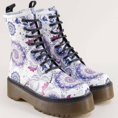 Зимни дамски обувки с ефектна кожа на платформа f706bps