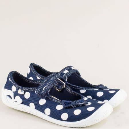 Детски пантофи в синьо и бяло с велкро лента- MONETA fortuna11