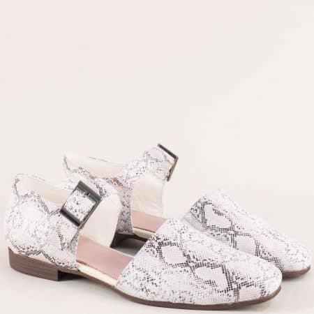 Дамски сандали със затворени пръсти и пета в сив цвят g1041rzps
