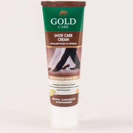 Крем боя за гладка кожа- GOLD CARE в кафяво gc1004k