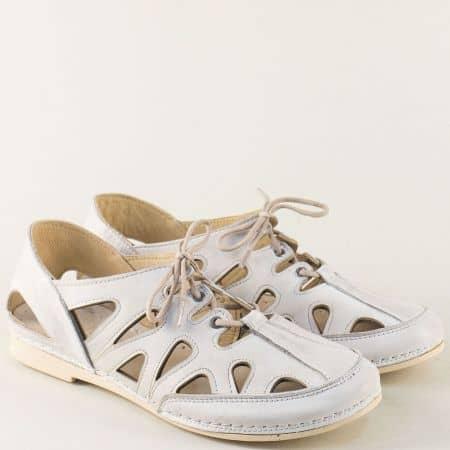Сиви дамски сандали със затворени пръсти и пета k1121sv