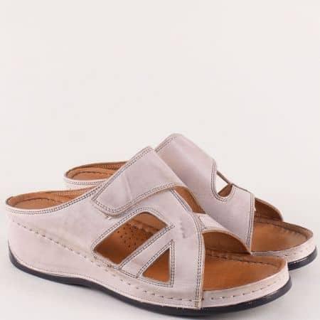 Дамски чехли на ортопедично ходило в бежов цвят k178bj