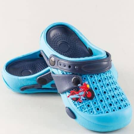 Сини детски чехли със затворени пръсти- GRAND ATTACK k5s