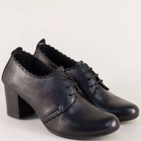 Дамски обувки с кожена анатомична стелка в черен цвят ketrin1054ach