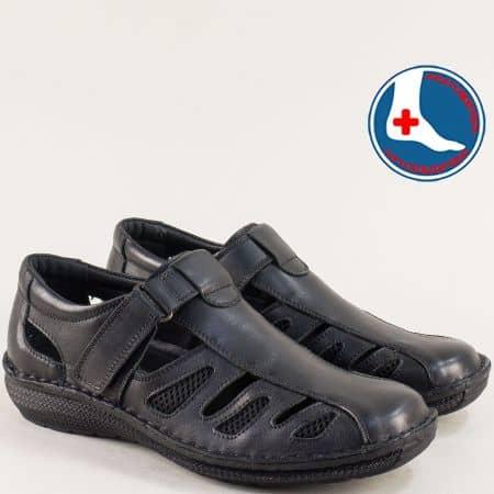 Кожени мъжки сандали в черен цвят- ARBITRO l147066ch