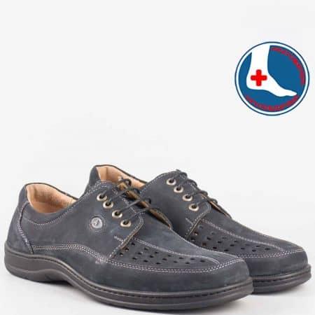 Черни ежедневни мъжки обувки с ортопедична стелка l1679nch