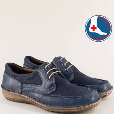Ортопедични мъжки обувки в тъмно син цвят- Arbitro l1865ns1