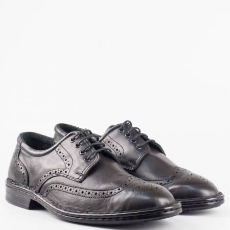 Мъжки комфортни обувки от висококачествена естествена кожа  l1910ch