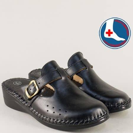 Ортопедични дамски чехли на платфорам в черен цвят l5575chch