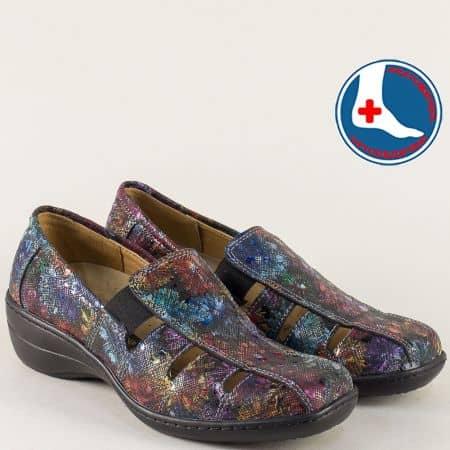 Пъстри дамски обувки с кожена ортопедична стелка l5987chps