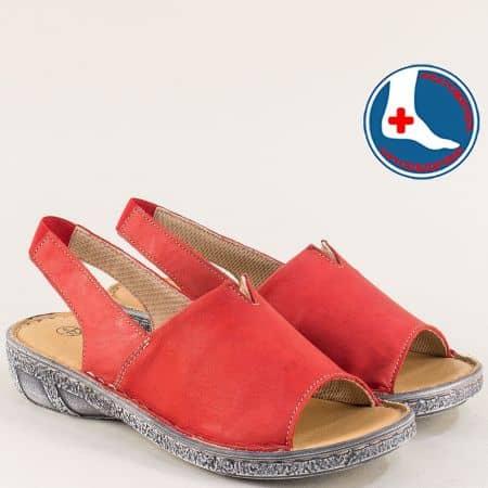 Червени дамски сандали с ортопедична извивка- Loretta l6426chv