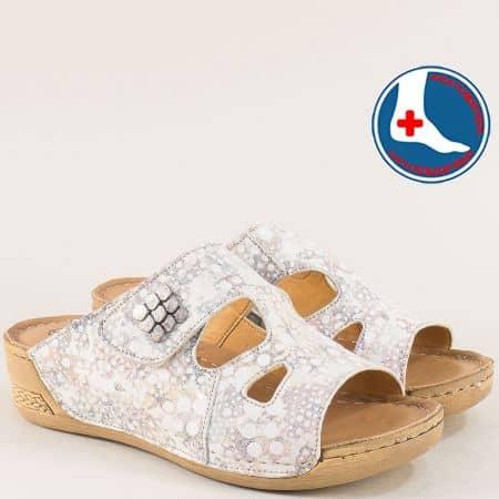 Дамски ортопедични чехли от естествена кожа l6442ps