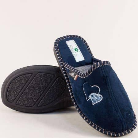 Дамски домашни пантофи- SPESITA в тъмно син цвят lidiats