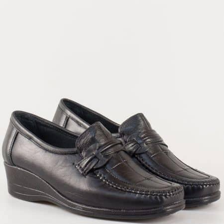 Анатомични дамски обувки, тип мокасина от естествена кожа m104ch