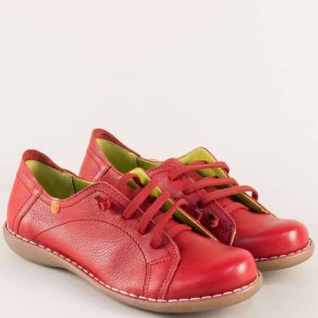 Анатомични дамски обувки от червена естествена кожа m5125chv