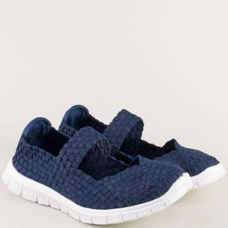 Дамски обувки в тъмно син цвят с Memory пяна m1512s