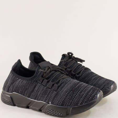 Мъжки спортни обувки на гъвкаво ходило в черен цвят m1709ch