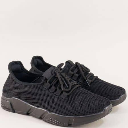 Мъжки спортни обувки в черен цвят на олекотено ходило m1709chch
