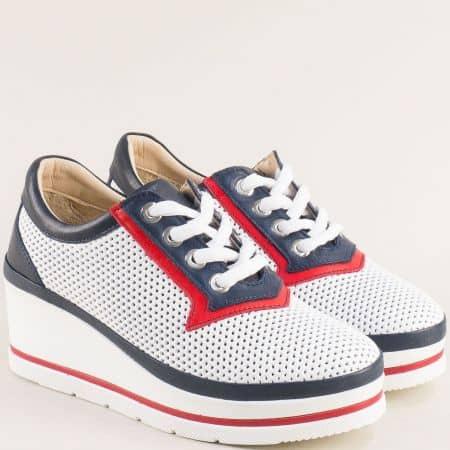 Бели дамски обувки на платформа m2011tomi