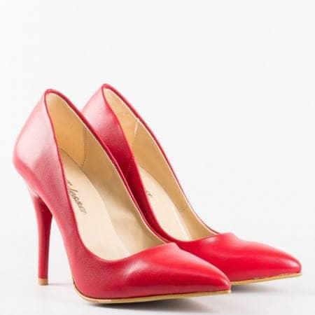 Елегантни червени дамски обувки на висок ток  m2015chv