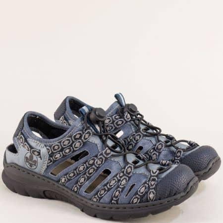 Дамски сини летни обувки Rieker с Antistress m328s