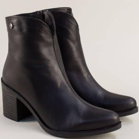 Черни дамски боти SISI от естествена кожа m6000ch