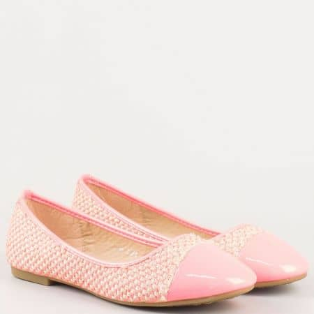 Розови дамски обувки, тип балерини за всеки ден  m85rz