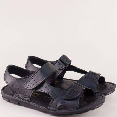 Мъжки кожени сандали в черен цвят ma088ch