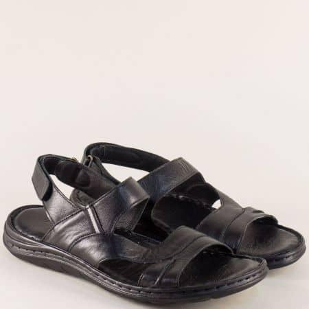 Черни мъжки сандали от естествена кожа ma111ch