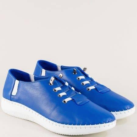 Кобалтово сини дамски обувки от естествена кожа ma1401ts