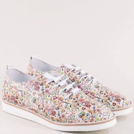 Дамски обувки в злато, лилаво, бяло, червено и синьо ma156ps