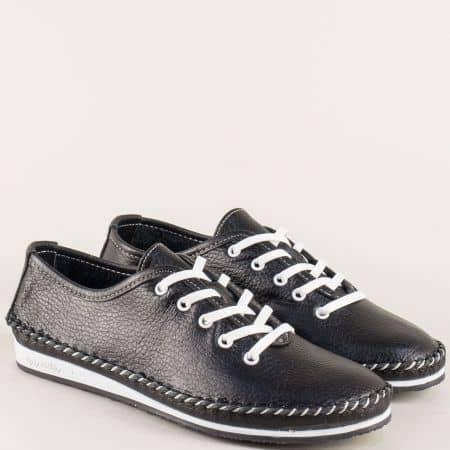 Рани дамски обувки в черен цвят с кожена стелка  ma302ch