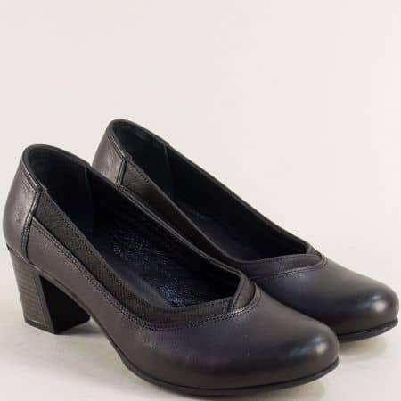 Черни дамски обувки на среден ток ma340ch