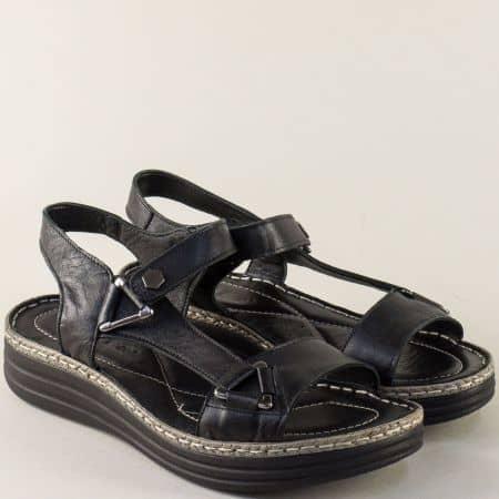 Анатомични дамски сандали на платформа в черен цвят ma513ch