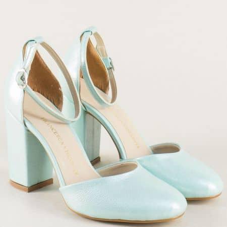 Зелени дамски сандали със затворени пръсти и пета ma596sz