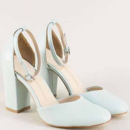 Зелени дамски обувки на висок ток ma596z