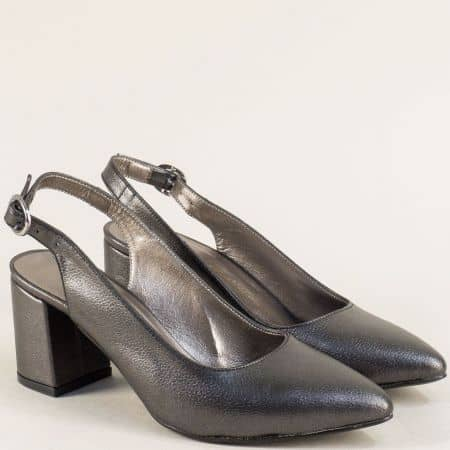 Дамски елегантни обувки на висок ток в бронзов цвят ma698sbrz