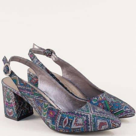 Дамски обувки в черно, бяло, синьо, зелено и оранж ma698sps