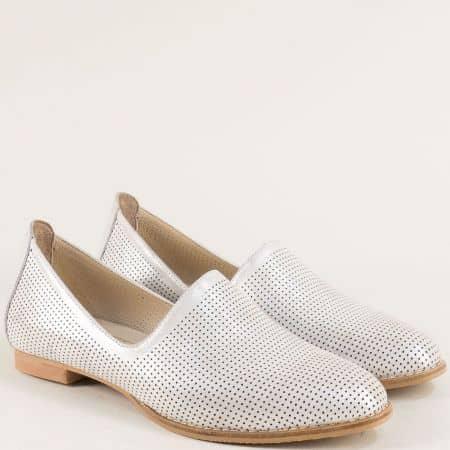 Сиви дамски обувки с перфорация и кожена стелка ma700dssv
