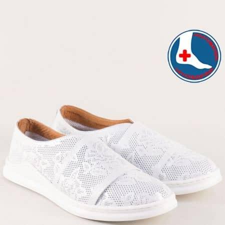 Бели дамски обувки на анатомично ходило ma820sr