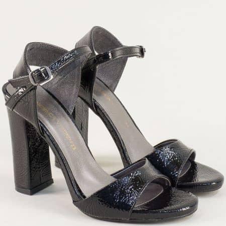Дамски сандали на стабилен висок ток в черен цвят ma978mlch