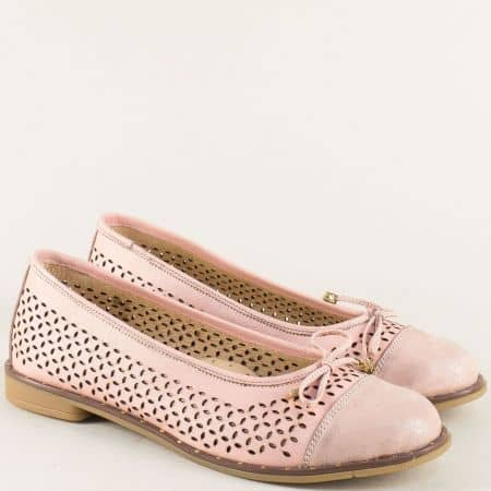 Розови дамски обувки от естествена кожа- NOTA BENE marina81077rz