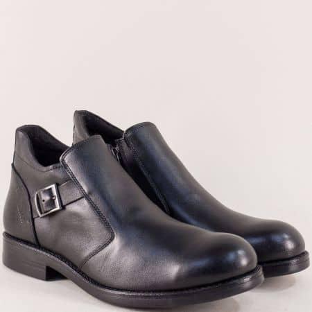 Черни мъжки боти от естествена кожа в елегантен стил mat105ch