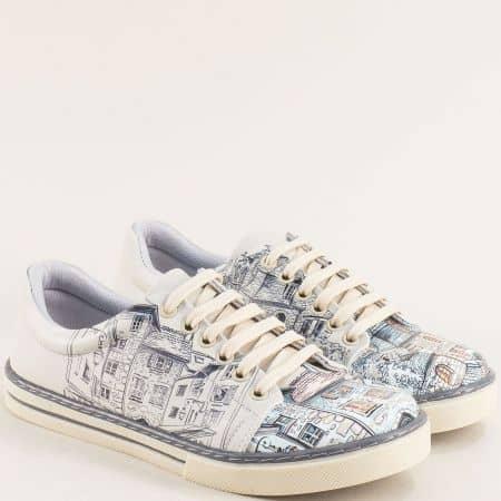 Дамски обувки тип кецове с декорация Париж me101ps