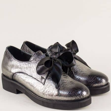 Бронзови дамски обувки от естествена кожа на нисък стабилен ток mm096brz