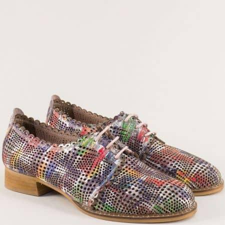 Дамски обувки в бяло, зелено, бежово, жълто, червено и синьо mm308ps