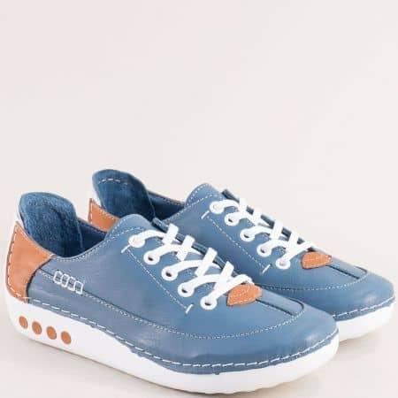 Анатомични дамски обувки в син цвят mm50s