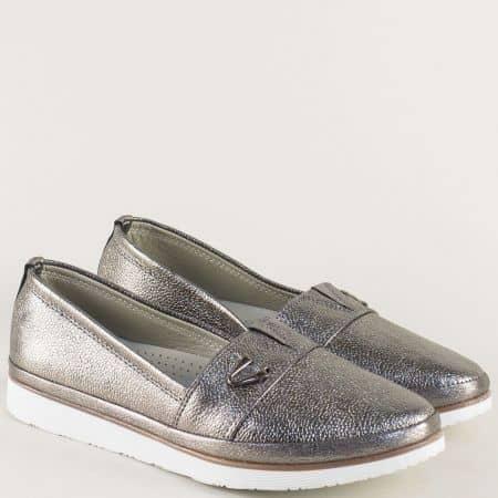 Ортопедични дамски обувки с ластик в цвят графит n268brz
