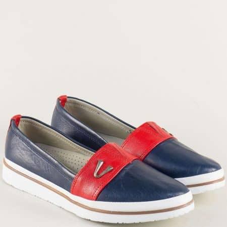 Ортопедични дамски обувки в бяло, червено и синьо n268tomi1