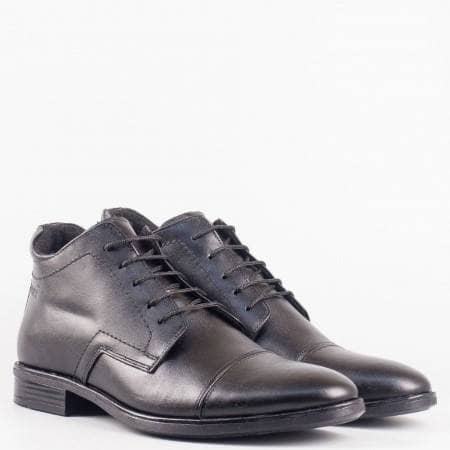 Мъжки стилни боти изработени от висококачествена естествена кожа в черен цвят n405ch